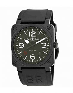Bell and Ross Military Type Automatic Olive Dial Mens Tactical Watch BR0392-MIL - Best Tactical Watches